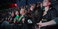 Google+ movie - Dawn of the Planet of the Apes - viewing with the apes in the audience