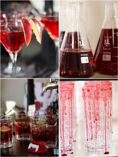 Halloween Week with Pottery Barn: How to Style a Blood Bar !! by Bird's Party