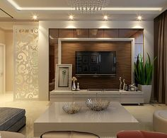 Modern TV wall units for living rooms - Wooden TV cabinets designs 2020 Living Room Tv Unit Designs, Ceiling Design Living Room, Living Room Interior, Lobby Interior, Bedroom Tv Unit Design, Salas Home Theater, Tv Cabinet Design, Modern Tv Wall Units, Drawing Room Interior