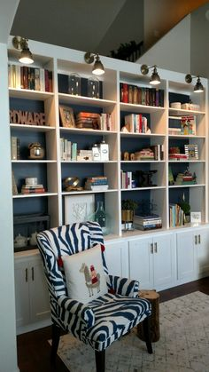 Home Library Shelves Bookshelves 48 Trendy Ideas Small Home Libraries, Home Library Rooms, Home Library Design, Home Interior Design, Design Desk, Library Ideas, Home Office Shelves, Library Shelves, Bookshelves Built In