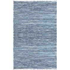 Hand-woven Matador Blue Denim/ Leather Rug (8' x 10') - Overstock™ Shopping - Great Deals on St Croix Trading 7x9 - 10x14 Rugs