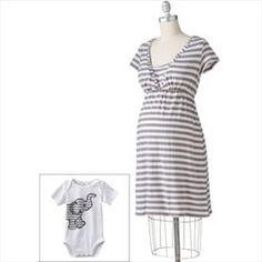 Nursing Nightgown and Newborn Bodysuit Set    Price: $12.00