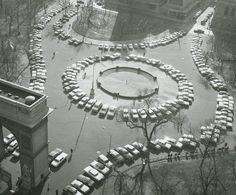 Washington Square Park, City Photography, Birds Eye View, Public Art, Public Spaces, Vintage Photographs, Vintage Photos, Park City, Historical Photos