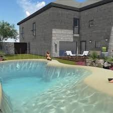 Natural Swimming Ponds, Amazing Swimming Pools, Swimming Pool Water, Swimming Pools Backyard, Swimming Pool Designs, Backyard Pool Designs, Backyard Patio, Backyard Beach, Homemade Swimming Pools
