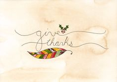 Give Thanks 5x7 Print on Etsy