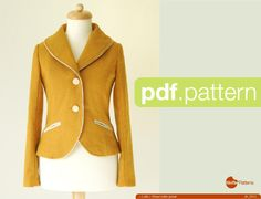 Looking for your next project? You're going to love Shawl collar jacket -Luffa- by designer Waffle Patterns.