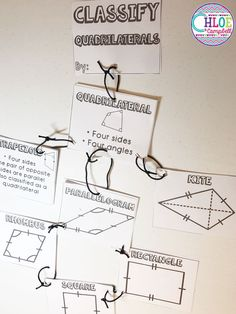 Quadrilateral classification chart and mini posters math quadrilateral classification chart and mini posters math pinterest chart math and students ccuart Images