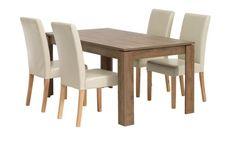 Asztal VEDDE + 4 szék TUREBY krém | JYSK Dining Chairs, Dining Table, Furniture, Home Decor, Decoration Home, Room Decor, Dinner Table, Dining Chair, Home Furnishings