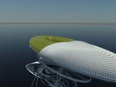 Futuristic Architecture, Hydroelectric Waterfall Prison Proposal / Margot Krasojevic, Future Architecture