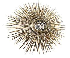 Brutalist-Starburst-Wall-Sculpture-33-Dia-Brass-William-Bowie-Marc-Creates-Jere