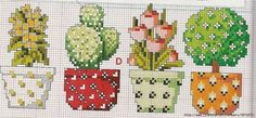 Cactus cross stitch pattern Ca Cactus Cross Stitch, Mini Cross Stitch, Cross Stitch Borders, Cross Stitch Flowers, Cross Stitch Designs, Cross Stitching, Cross Stitch Embroidery, Embroidery Patterns, Hand Embroidery