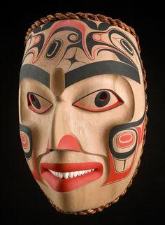 Ditidhat Eagle Mask by William Kuhnley, Nuu-chah-nulth (Ditidaht) artist… Haida Kunst, Haida Art, Eagle Mask, Native American Masks, Inuit Art, Tlingit, Gothic Dolls, Masks Art, Indigenous Art
