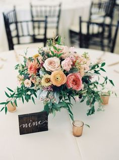 Rustic ranunculus and rose wedding table centerpieces: www.stylemepretty… Phot… Rustic ranunculus and rose wedding table centerpieces: www. Wedding Table Flowers, Wedding Table Centerpieces, Wedding Flower Arrangements, Floral Centerpieces, Rose Wedding, Floral Wedding, Floral Arrangements, Wedding Bouquets, Wedding Decorations