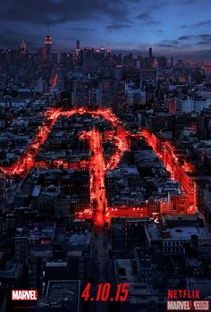 Reserve 13 Hours of April: Daredevil Has Official Release Day and New Poster - Get your red footie pajamas out.