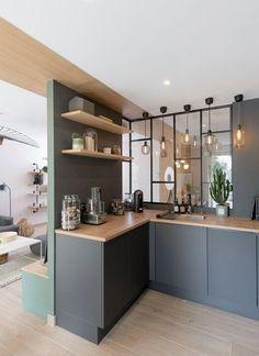 Trendy Home Studio Apartment Cuisine Ideas Küchen Design, House Design, Design Ideas, Casa Loft, Home Studio, Interior Design Living Room, Interior Decorating, Interior Architecture, Architecture Portfolio