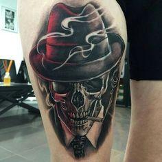 Resultado de imagem para new skull bull tattoo