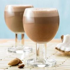 Guilt-Free Almond Joy Shake 8 oz Almond milk 2 scoops Arbonne Fit Essential Chocolate Protein 1 scoop Arbonne Fit Essential Daily Fiber Boost 1 TBSP Almond Butter coconut extract ice to taste BLEND and enjoy! Protein Powder Recipes, Protein Shake Recipes, Smoothie Recipes, Smoothies, Arbonne Shake Recipes, Arbonne Protein Shakes, Arbonne 30 Day Detox, Arbonne Cleanse, Healthy Living Recipes