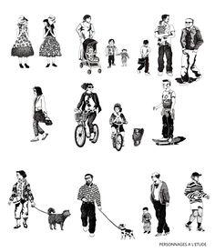 Illustrations pour les ateliers J.Nouvel+ Rogers Stirk Harbour and partners + TVK+ M.Desvigne paysagiste - Diane Berg