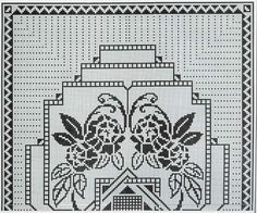 Kira scheme crochet: Large floral tablecloth or blanket