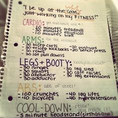 You feel the need to write down your workout routine.   27 Signs You're An Obsessive List Maker