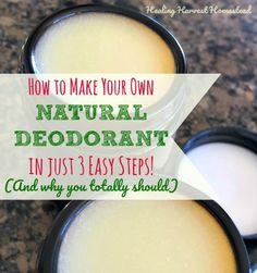 Why is commercial deodorant and antiperspirant from the store so bad for you? Find out..PLUS Why you should use natural deodorant...and how to make your own natural deodorant. This is my most popular natural deodorant recipe, and there are just three easy steps! Other natural options includ