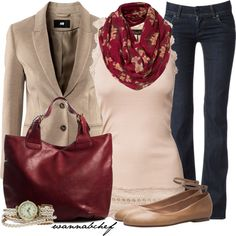 great casual, yet polished look for the office ir an evening out Stylish Outfits, Cute Outfits, Fashion Outfits, Fashion Trends, Women's Fashion, Business Casual Womens Fashion, Blue Jean Outfits, Complete Outfits, Mode Style