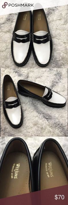 GH Bass two tone Weejuns loafer Cool and chic two tone leather loafer. The leather on these is very high quality and soft. Worn once for a few hours. True to size and comfortable! Always open to offers! G.H. Bass Shoes Flats & Loafers
