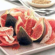 Prosciutto e fichi, la dolcezza del salume abbinata alle note zuccherine della frutta. Condivisa da: http://lacucinadisusana.blogspot.com.ar