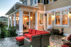 Delightful Patio Decorating Ideas On A Budget for  Patio Craftsman design ideas with Delightful  black shutters column