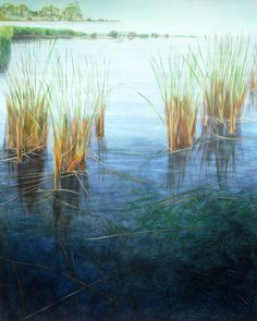 Blue Marsh by Dawn Adams Dawn, Paintings, Blue, Paint, Painting Art, Painting, Drawings, Pictures, Illustrations