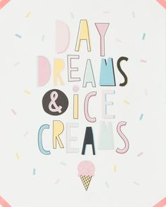 Watercolor Ice Cream / Ice Cream Clipart / Hand drawn / commercial use / scrapbooking, sewing, stickers Food Quotes, Me Quotes, Funny Quotes, Ice Cream Quotes, Ice Cream Puns, Gelato, Ice Cream Clipart, Ice Cream Social, Summer Quotes