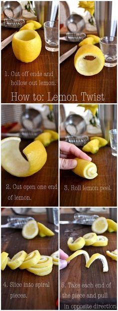 How to make a Lemon Twist! #bartending