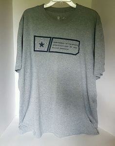 91e219e5f Mens Nike NFL Onfield Apparel Dallas Cowboys Dri Fit Gray Tshirt XXL
