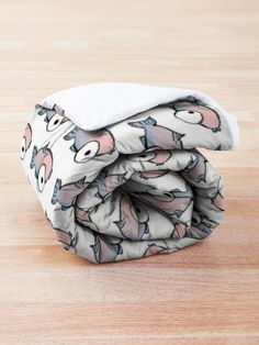 """""""A School of Pink and Blue Fishes"""" Comforter by MadoMade How To Get Warm, College Dorm Rooms, Square Quilt, Quilt Patterns, Blankets, Comforters, Comfy, Colours, Fish"""