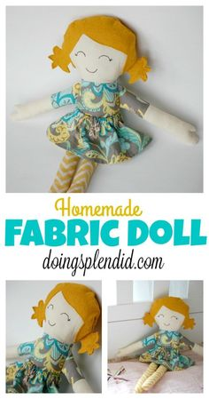 Homemade Fabric Dolls are a fun sewing project and can be great gift for children! This blog post provides steps to create your own doll as well as a free pattern! :)