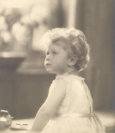 Princess (Queen) Elizabeth...she looks so much like Prince Harry here...