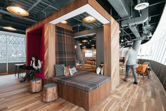 WeWork's newest coworking space is in the Fulton Center, in Lower Manhattan.