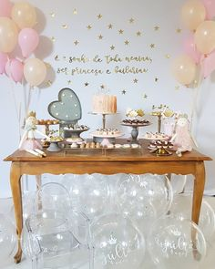 Wedding Decorations Elegant White Bridal Shower 18 Ideas - New ideas 30th Birthday Parties, Baby First Birthday, Bridal Shower Decorations, Birthday Party Decorations, Wedding Decorations, Fiesta Baby Shower, White Bridal Shower, Ballerina Birthday, Festa Party