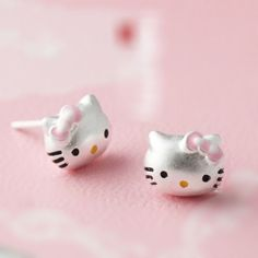New Arrival Fashion 925 Sterling Silver Cat Stud Earrings for Women Fashion Kitty Earrings Jewelry Free Shipping