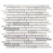 Thin Mixed White Brick Marble Mosaic