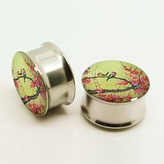 Hey, I found this really awesome Etsy listing at https://www.etsy.com/listing/192786519/love-birds-flower-earplugslovers-plugs