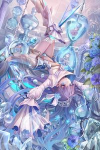 Illustration wallpaper art of Meltlilith in glass world fill with a adorable dolls inside the water glasses. Anime Angel, Anime Fairy, Ange Anime, Lolis Anime, Manga Kawaii, Kawaii Anime Girl, Anime Art Girl, Manga Girl, Anime Girls
