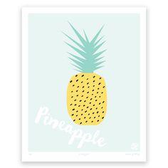 Pineapple art print | hardtofind.