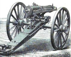 "The Gatling gun was designed by Richard Gatling in 1861. Ever since, it has the name has been almost synonymous with ""awesome machine gun."""