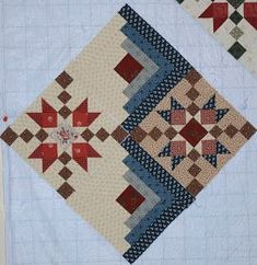 """Patchwork blocks, phase two is done! I don't rise and shine as much as I hit the sewing room and caffeinate. First phase of these """"split personality""""… Patchwork block with a plethora of plaids? Log Cabin Quilt Pattern, Log Cabin Quilts, Quilt Block Patterns, Pattern Blocks, Quilt Blocks, Log Cabin Patchwork, Log Cabins, Canvas Patterns, Star Quilts"""
