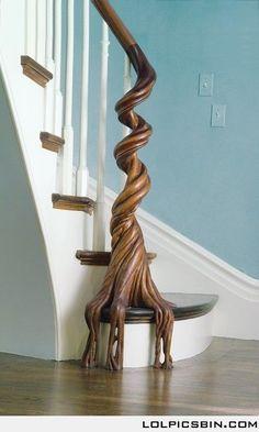 Wooden Tree Banister