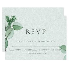 #wedding #responsecards - #Wedding RSVP | Elegant Watercolor Eucalyptus Card Wedding Rsvp, Wedding Day, Wedding Pins, Wedding Invitations, Wedding Response Cards, Custom Stationery, Invitation Cards, Paper Texture, Place Card Holders