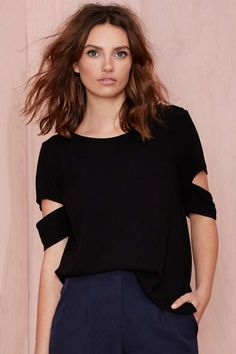 With The Band Tee - Black | Shop Tops at Nasty Gal