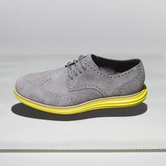 Cole Haan - Lunar Grand Wingtip    Super modern take on the classic style. A perfect example of why the rise of Menswear will continue to stick - we pay homage to our heritage, while updating the function