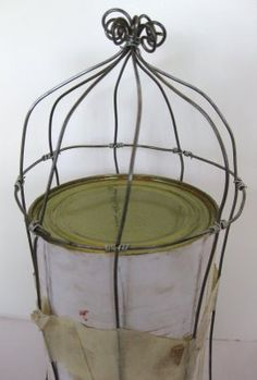 The Caged Bird Swings  Doodle a bird cage not with a pencil, but with wire. by Can't Stop Making Things